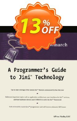 A Programmer's Guide to Jini Technology - Newmarch  Coupon, discount A Programmer's Guide to Jini Technology (Newmarch) Deal. Promotion: A Programmer's Guide to Jini Technology (Newmarch) Exclusive Easter Sale offer for iVoicesoft