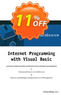 Internet Programming with Visual Basic - Kurniawan  Coupon, discount Internet Programming with Visual Basic (Kurniawan) Deal. Promotion: Internet Programming with Visual Basic (Kurniawan) Exclusive Easter Sale offer for iVoicesoft