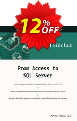 From Access to SQL Server - Sinclair  Coupon discount From Access to SQL Server (Sinclair) Deal - From Access to SQL Server (Sinclair) Exclusive Easter Sale offer for iVoicesoft