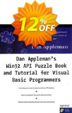 Dan Appleman's Win32 API Puzzle Book and Tutorial for Visual Basic Programmers - Appleman  Coupon, discount Dan Appleman's Win32 API Puzzle Book and Tutorial for Visual Basic Programmers (Appleman) Deal. Promotion: Dan Appleman's Win32 API Puzzle Book and Tutorial for Visual Basic Programmers (Appleman) Exclusive Easter Sale offer for iVoicesoft