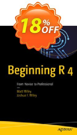 Beginning R 4 - Wiley  Coupon, discount Beginning R 4 (Wiley) Deal. Promotion: Beginning R 4 (Wiley) Exclusive Easter Sale offer for iVoicesoft