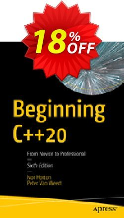 Beginning C++20 - Horton  Coupon, discount Beginning C++20 (Horton) Deal. Promotion: Beginning C++20 (Horton) Exclusive Easter Sale offer for iVoicesoft