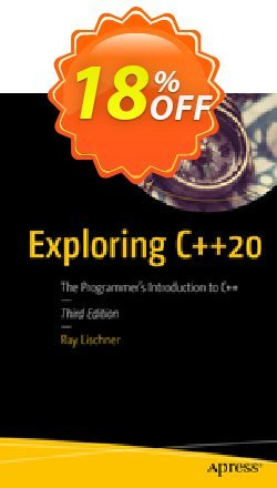 Exploring C++20 - Lischner  Coupon, discount Exploring C++20 (Lischner) Deal. Promotion: Exploring C++20 (Lischner) Exclusive Easter Sale offer for iVoicesoft