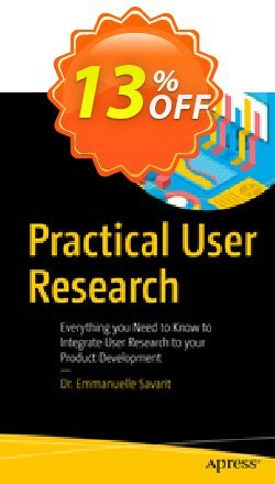 Practical User Research - Savarit  Coupon, discount Practical User Research (Savarit) Deal. Promotion: Practical User Research (Savarit) Exclusive Easter Sale offer for iVoicesoft