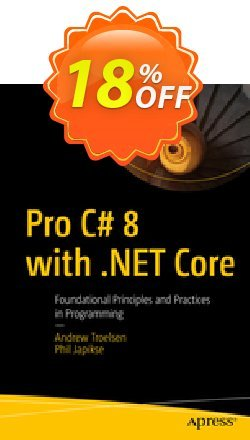 Pro C# 8 with .NET Core - Troelsen  Coupon, discount Pro C# 8 with .NET Core (Troelsen) Deal. Promotion: Pro C# 8 with .NET Core (Troelsen) Exclusive Easter Sale offer for iVoicesoft
