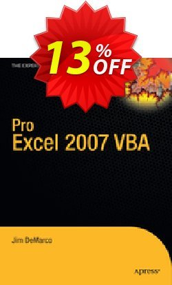 Pro Excel 2007 VBA - DeMarco  Coupon, discount Pro Excel 2007 VBA (DeMarco) Deal. Promotion: Pro Excel 2007 VBA (DeMarco) Exclusive Easter Sale offer for iVoicesoft