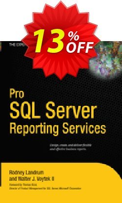Pro SQL Server Reporting Services - Landrum  Coupon, discount Pro SQL Server Reporting Services (Landrum) Deal. Promotion: Pro SQL Server Reporting Services (Landrum) Exclusive Easter Sale offer for iVoicesoft