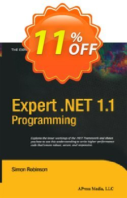 Expert .NET 1.1 Programming - Robinson  Coupon, discount Expert .NET 1.1 Programming (Robinson) Deal. Promotion: Expert .NET 1.1 Programming (Robinson) Exclusive Easter Sale offer for iVoicesoft