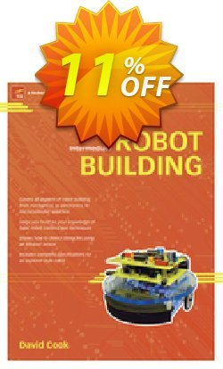 Intermediate Robot Building - Cook  Coupon, discount Intermediate Robot Building (Cook) Deal. Promotion: Intermediate Robot Building (Cook) Exclusive Easter Sale offer for iVoicesoft