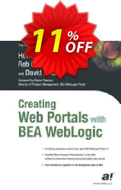 Creating Web Portals with BEA WebLogic - Castle  Coupon, discount Creating Web Portals with BEA WebLogic (Castle) Deal. Promotion: Creating Web Portals with BEA WebLogic (Castle) Exclusive Easter Sale offer for iVoicesoft