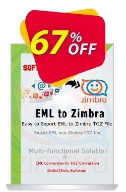eSoftTools EML to Zimbra Converter Coupon, discount Coupon code eSoftTools EML to Zimbra Converter - Personal License. Promotion: eSoftTools EML to Zimbra Converter - Personal License offer from eSoftTools Software