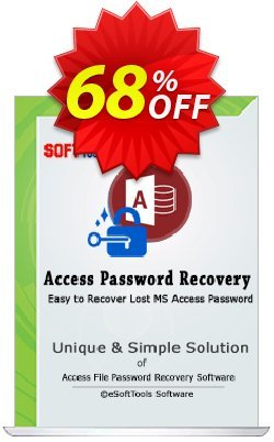 eSoftTools Access Password Recovery Coupon, discount Coupon code eSoftTools Access Password Recovery - Personal License. Promotion: eSoftTools Access Password Recovery - Personal License offer from eSoftTools Software