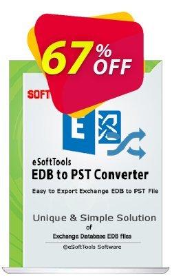 eSoftTools EDB to PST Converter Coupon, discount Coupon code eSoftTools EDB to PST Converter - Personal License. Promotion: eSoftTools EDB to PST Converter - Personal License offer from eSoftTools Software