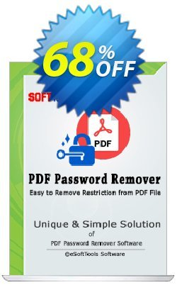 eSoftTools PDF Password Remover Coupon, discount Coupon code eSoftTools PDF Password Remover - Personal License. Promotion: eSoftTools PDF Password Remover - Personal License offer from eSoftTools Software