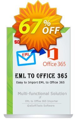 eSoftTools EML to Office365 Converter - Technician License Coupon, discount Coupon code eSoftTools EML to Office365 Converter - Technician License. Promotion: eSoftTools EML to Office365 Converter - Technician License offer from eSoftTools Software