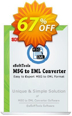 eSoftTools MSG to EML Converter - Technician License Coupon, discount Coupon code eSoftTools MSG to EML Converter - Technician License. Promotion: eSoftTools MSG to EML Converter - Technician License offer from eSoftTools Software