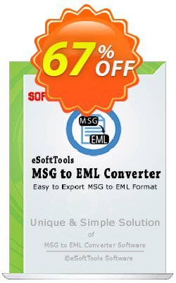 eSoftTools MSG to EML Converter - Enterprise License Coupon, discount Coupon code eSoftTools MSG to EML Converter - Enterprise License. Promotion: eSoftTools MSG to EML Converter - Enterprise License offer from eSoftTools Software