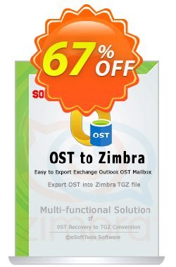 eSoftTools OST to Zimbra Converter - Enterprise License Coupon, discount Coupon code eSoftTools OST to Zimbra Converter - Enterprise License. Promotion: eSoftTools OST to Zimbra Converter - Enterprise License offer from eSoftTools Software