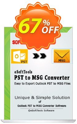 eSoftTools PST to MSG Converter - Enterprise License Coupon, discount Coupon code eSoftTools PST to MSG Converter - Enterprise License. Promotion: eSoftTools PST to MSG Converter - Enterprise License offer from eSoftTools Software