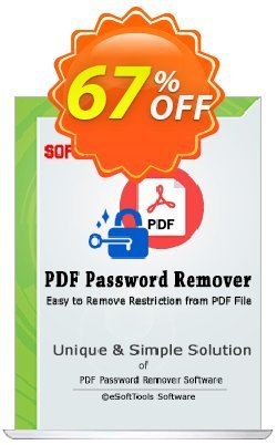 eSoftTools PDF Password Remover - Corporate License Coupon, discount Coupon code eSoftTools PDF Password Remover - Corporate License. Promotion: eSoftTools PDF Password Remover - Corporate License offer from eSoftTools Software