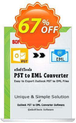 eSoftTools PST to EML Converter - Corporate License Coupon, discount Coupon code eSoftTools PST to EML Converter - Corporate License. Promotion: eSoftTools PST to EML Converter - Corporate License offer from eSoftTools Software