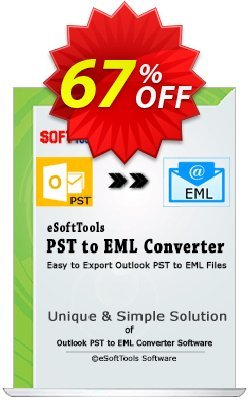 eSoftTools PST to EML Converter - Technician License Coupon, discount Coupon code eSoftTools PST to EML Converter - Technician License. Promotion: eSoftTools PST to EML Converter - Technician License offer from eSoftTools Software