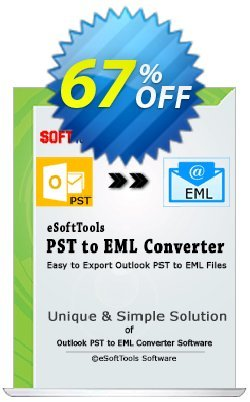 eSoftTools PST to EML Converter - Enterprise License Coupon, discount Coupon code eSoftTools PST to EML Converter - Enterprise License. Promotion: eSoftTools PST to EML Converter - Enterprise License offer from eSoftTools Software