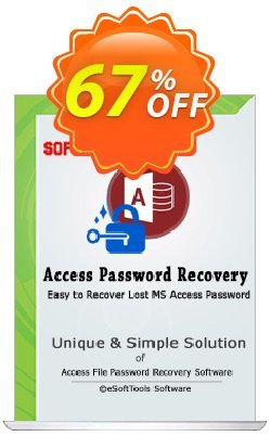 eSoftTools Access Password Recovery - Enterprise License Coupon, discount Coupon code eSoftTools Access Password Recovery - Enterprise License. Promotion: eSoftTools Access Password Recovery - Enterprise License offer from eSoftTools Software