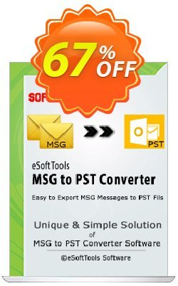 eSoftTools MSG to PST Converter - Technician License Coupon, discount Coupon code eSoftTools MSG to PST Converter - Technician License. Promotion: eSoftTools MSG to PST Converter - Technician License offer from eSoftTools Software