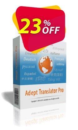 Adept Translator Pro Coupon, discount Adept Translator Pro Special promo code 2021. Promotion: Amazing deals code of Adept Translator Pro 2021