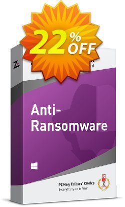 ZoneAlarm Anti-Ransomware - 3 PCs License  Coupon discount 20% OFF ZoneAlarm Anti-Ransomware (3 PCs License), verified. Promotion: Amazing offer code of ZoneAlarm Anti-Ransomware (3 PCs License), tested & approved
