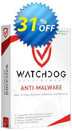 Watchdog Anti-Malware 3 year / 1 PC Coupon discount 30% OFF Watchdog Anti-Malware 3 year / 1 PC, verified. Promotion: Awesome offer code of Watchdog Anti-Malware 3 year / 1 PC, tested & approved