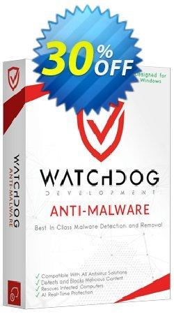Watchdog Anti-Malware 3 year / 3 PC Coupon discount 30% OFF Watchdog Anti-Malware 3 year / 3 PC, verified - Awesome offer code of Watchdog Anti-Malware 3 year / 3 PC, tested & approved