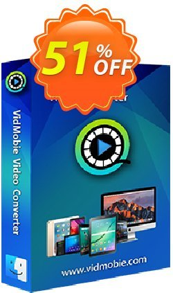 VidMobie Video Converter for Mac - 1 Year Subscription  Coupon discount Coupon code VidMobie Video Converter for Mac (1 Year Subscription) - VidMobie Video Converter for Mac (1 Year Subscription) offer from VidMobie Software