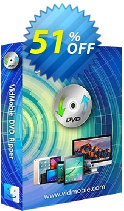 VidMobie DVD Ripper for Mac - 1 Year Subscription  Coupon discount Coupon code VidMobie DVD Ripper for Mac (1 Year Subscription). Promotion: VidMobie DVD Ripper for Mac (1 Year Subscription) offer from VidMobie Software