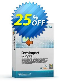 EMS Data Import for MySQL - Business + 1 Year Maintenance Coupon, discount Coupon code EMS Data Import for MySQL (Business) + 1 Year Maintenance. Promotion: EMS Data Import for MySQL (Business) + 1 Year Maintenance Exclusive offer for iVoicesoft