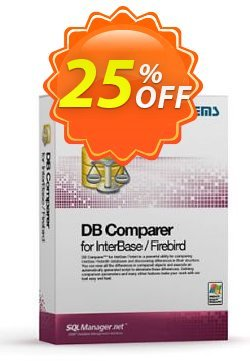 EMS DB Comparer for InterBase/Firebird - Business + 1 Year Maintenance Coupon discount Coupon code EMS DB Comparer for InterBase/Firebird (Business) + 1 Year Maintenance. Promotion: EMS DB Comparer for InterBase/Firebird (Business) + 1 Year Maintenance Exclusive offer for iVoicesoft