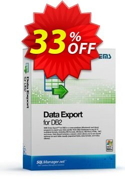 EMS Data Export for DB2 - Business + 1 Year Maintenance Coupon, discount Coupon code EMS Data Export for DB2 (Business) + 1 Year Maintenance. Promotion: EMS Data Export for DB2 (Business) + 1 Year Maintenance Exclusive offer for iVoicesoft