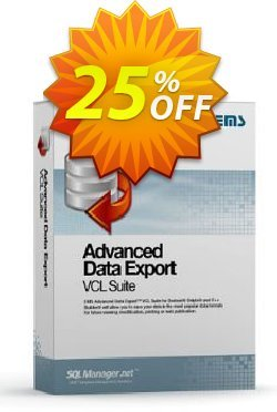 Advanced Data Export VCL Suite - with sources + 1 Year Maintenance Coupon discount Coupon code Advanced Data Export VCL Suite (with sources) + 1 Year Maintenance. Promotion: Advanced Data Export VCL Suite (with sources) + 1 Year Maintenance Exclusive offer for iVoicesoft