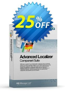 Advanced Localizer Component Suite for Delphi - with sources + 1 Year Maintenance Coupon discount Coupon code Advanced Localizer Component Suite for Delphi (with sources) + 1 Year Maintenance. Promotion: Advanced Localizer Component Suite for Delphi (with sources) + 1 Year Maintenance Exclusive offer for iVoicesoft