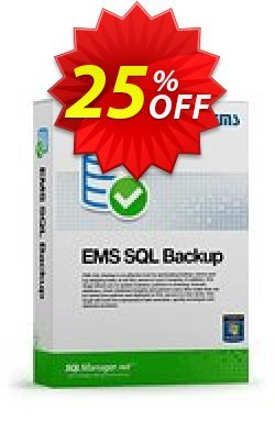 EMS SQL Backup for SQL Server - Business + 1 Year Maintenance Coupon, discount Coupon code EMS SQL Backup for SQL Server (Business) + 1 Year Maintenance. Promotion: EMS SQL Backup for SQL Server (Business) + 1 Year Maintenance Exclusive offer for iVoicesoft