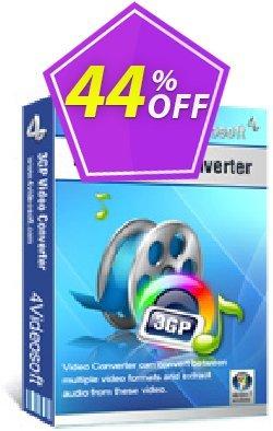 4Videosoft 3GP Video Converter Coupon, discount 4Videosoft 3GP Video Converter imposing offer code 2020. Promotion: imposing offer code of 4Videosoft 3GP Video Converter 2020