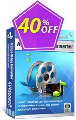 4Videosoft Archos Video Converter Coupon, discount 4Videosoft Archos Video Converter formidable discounts code 2020. Promotion: formidable discounts code of 4Videosoft Archos Video Converter 2020