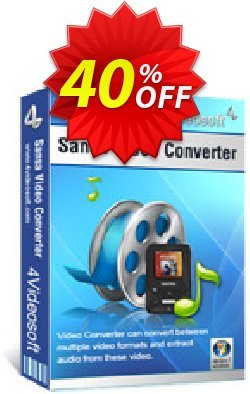 4Videosoft Sansa Video Converter Coupon, discount 4Videosoft Sansa Video Converter excellent offer code 2020. Promotion: excellent offer code of 4Videosoft Sansa Video Converter 2020