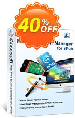 4Videosoft Mac iPod touch Manager for ePub Coupon, discount 4Videosoft Mac iPod touch Manager for ePub amazing discounts code 2019. Promotion: amazing discounts code of 4Videosoft Mac iPod touch Manager for ePub 2019