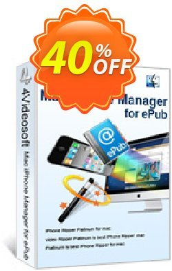 4Videosoft Mac iPhone Manager for ePub Coupon, discount 4Videosoft Mac iPhone Manager for ePub staggering offer code 2019. Promotion: staggering offer code of 4Videosoft Mac iPhone Manager for ePub 2019
