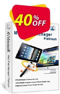 4Videosoft Mac iPad Manager Platinum Coupon, discount 4Videosoft Mac iPad Manager Platinum awful discounts code 2020. Promotion: awful discounts code of 4Videosoft Mac iPad Manager Platinum 2020