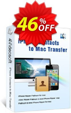 4Videosoft iPhone Contacts to Mac Transfer Coupon, discount 4Videosoft iPhone Contacts to Mac Transfer awful sales code 2019. Promotion: awful sales code of 4Videosoft iPhone Contacts to Mac Transfer 2019
