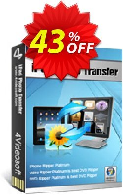4Videosoft iPad Photo Transfer Coupon, discount 4Videosoft iPad Photo Transfer hottest discounts code 2019. Promotion: hottest discounts code of 4Videosoft iPad Photo Transfer 2019