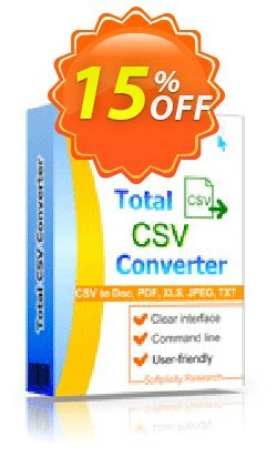 Coolutils Total CSV Converter Coupon, discount 15% OFF Coolutils Total CSV Converter, verified. Promotion: Dreaded discounts code of Coolutils Total CSV Converter, tested & approved